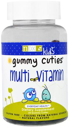 Gummy Cuties, Kids Multi Vitamin, 60 Gummy Cuties by Natural Dynamix-Vitaminer, Multivitaminer, Multivitamingummier, Barnhälsa, Barngummier