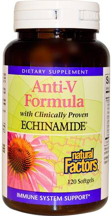 Anti-V Formula, with Clinically Proven Echinamide, 120 Softgels by Natural Factors-Kosttillskott, Antibiotika, Echinacea