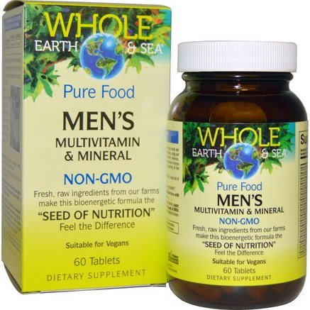 Whole Earth & Sea, Mens Multivitamin & Mineral, 60 Tablets by Natural Factors-Vitaminer, Män Multivitaminer