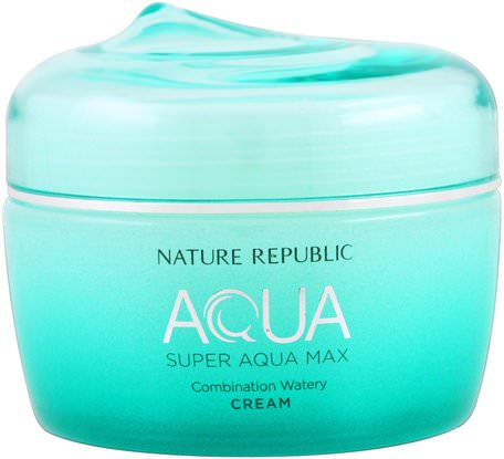 Aqua, Super Aqua Max, Combination Watery Cream, 2.70 fl oz (80 ml) by Nature Republic-Skönhet, Ansiktsvård