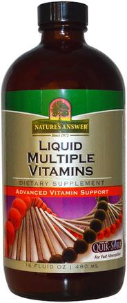 Liquid Multiple Vitamins, 16 fl oz (480 ml) by Natures Answer-Vitaminer, Multivitaminer, Flytande Multivitaminer