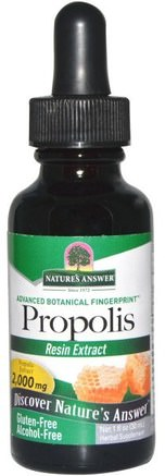 Propolis, Alcohol-Free, 2.000 mg, 1 fl oz (30 ml) by Natures Answer-Kosttillskott, Biprodukter, Bi Propolis