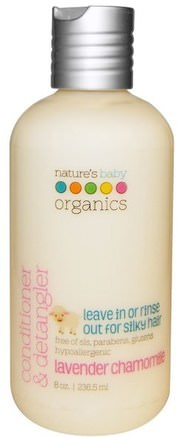 Conditioner & Detangler, Lavender Chamomile, 8 oz (236.5 ml) by Natures Baby Organics-Bad, Skönhet, Balsam, Barnbad