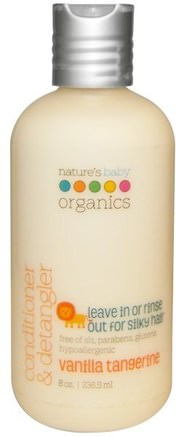 Conditioner & Detangler, Vanilla Tangerine, 8 fl oz (236.5 ml) by Natures Baby Organics-Bad, Skönhet, Balsam, Barnbad