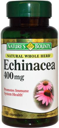 Echinacea, 400 mg, 100 Capsules by Natures Bounty-Kosttillskott, Antibiotika
