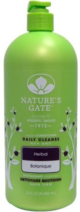 Daily Cleanse Conditioner, Vegan, Herbal, 32 fl oz (946 ml) by Natures Gate-Bad, Skönhet, Balsam, Hår, Hårbotten, Schampo, Balsam