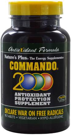 Commando 2000 Antioxidant Protection, 90 Tablets by Natures Plus-Kosttillskott, Antioxidanter, Antioxidant