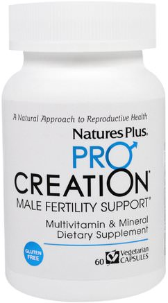 Procreation, Male Fertility Support, 60 Veggie Caps by Natures Plus-Vitaminer, Hälsa, Män