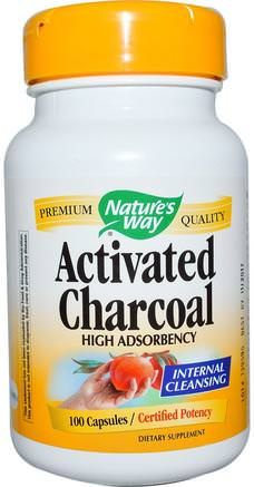Activated Charcoal, 100 Capsules by Natures Way-Kosttillskott, Mineraler, Aktivt Kol