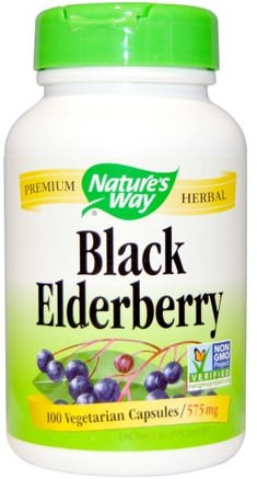 Black Elderberry, 575 mg, 100 Veggie Caps by Natures Way-Kosttillskott, Hälsa, Kall Influensa Och Virus