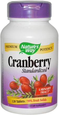 Cranberry, Standardized, 120 Tablets by Natures Way-Hälsa, Blåsan