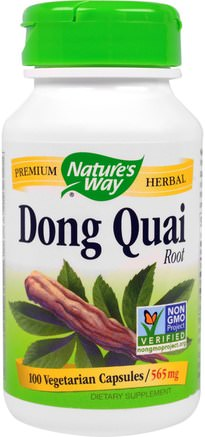 Dong Quai, Root, 565 mg, 100 Veggie Caps by Natures Way-Hälsa, Klimakteriet, Dong Quai