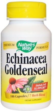 Echinacea Goldenseal, 100 Capsules by Natures Way-Kosttillskott, Antibiotika