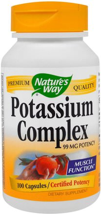 Potassium Complex, 99 mg, 100 Capsules by Natures Way-Vitaminer, Prenatala Multivitaminer