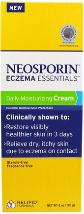 Eczema Essentials, Daily Moisturizing Cream, 6 oz (170 g) by Neosporin-Sverige