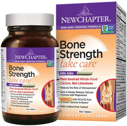 Bone Strength Take Care, 120 Slim Tablets by New Chapter-Hälsa, Ben, Osteoporos