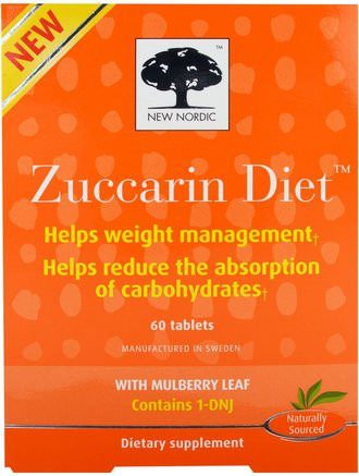 Zuccarin Diet, 60 Tablets by New Nordic US Inc-Hälsa, Blodsocker