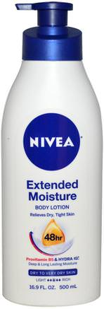 Extended Moisture, Body Lotion, Dry to Very Dry Skin, 16.9 fl oz (500 ml) by Nivea-Bad, Skönhet, Body Lotion