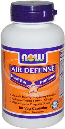Air Defense Healthy Immune with Paractin, 90 Veg Capsules by Now Foods-Kosttillskott, Antibiotika, Andrografier, Hälsa, Kall Influensa Och Viral, Elderberry (Sambucus)