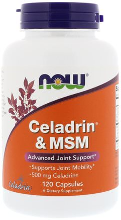 Celadrin & MSM, 120 Capsules by Now Foods-Hälsa, Inflammation, Celadrin, Ryggont