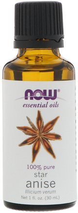 Essential Oils, Star Anise, 1 fl oz (30 ml) by Now Foods-Bad, Skönhet, Aromterapi Eteriska Oljor, Anisolja