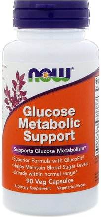 Glucose Metabolic Support, 90 Veg Capsules by Now Foods-Hälsa, Blodsocker, Örter, Gymnema