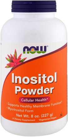 Inositol Powder, 8 oz (227 g) by Now Foods-Vitaminer, Inositol