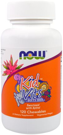 Kid Vits, Berry Blast, 120 Chewables by Now Foods-Vitaminer, Multivitaminer, Barn Multivitaminer, Barns Hälsa, Nu Mat Barn Och Spädbarn