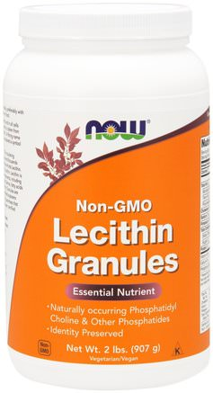 Lecithin Granules, Non-GMO, 2 lbs (907 g) by Now Foods-Kosttillskott, Lecitin