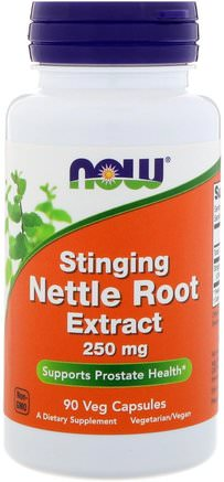 Stinging Nettle Root Extract, 250 mg, 90 Veg Capsules by Now Foods-Örter, Nässlor Stinging, Nässla Rot