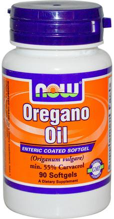 Oregano Oil, 90 Softgels by Now Foods-Kosttillskott, Oreganoolja, Antibiotika