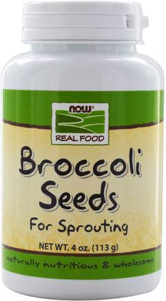 Real Food, Broccoli Seeds, 4 oz (113 g) by Now Foods-Kosttillskott, Broccoli Korsverk