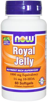 Royal Jelly, 60 Softgels by Now Foods-Kosttillskott, Biprodukter, Royal Gelé