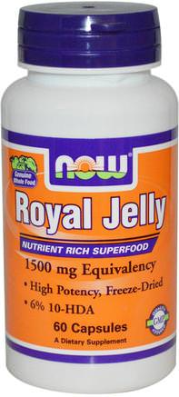 Royal Jelly, 60 Veg Capsules by Now Foods-Kosttillskott, Biprodukter, Royal Gelé