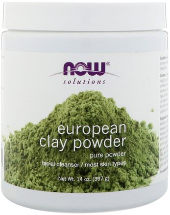 Solutions, European Clay Powder, 14 oz (397 g) by Now Foods-Hälsa, Detox, Lera, Skönhet, Ansiktsvård, Hud
