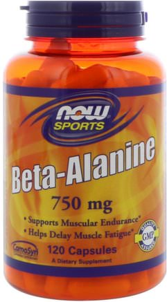 Sports, Beta-Alanine, 750 mg, 120 Capsules by Now Foods-Kosttillskott, Anabola Kosttillskott, Beta-Alanin