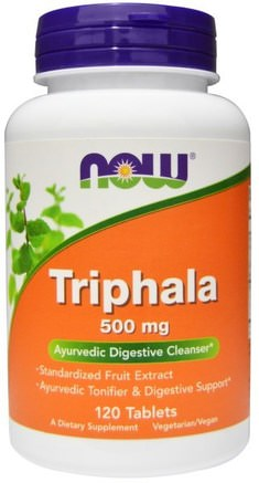 Triphala, 500 mg, 120 Tablets by Now Foods-Hälsa, Detox, Triphala