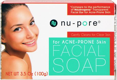Facial Soap, for Acne-Prone Skin, 3.5 oz (100 g) by Nu-Pore-Skönhet, Akne Aktuella Produkter