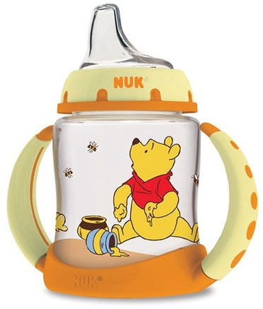 Disney Baby, Winnie The Pooh Learner Cup, 6+ Months, 1 Cup, 5 oz (150ml) by NUK-Barns Hälsa, Barnmat, Babyfodring, Babyflaskor