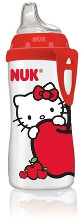 Hello Kitty Active Cup, 12 + Month, 1 Cup, 10 oz (300 ml) by NUK-Barns Hälsa, Barnmat, Babyfodring, Babyflaskor