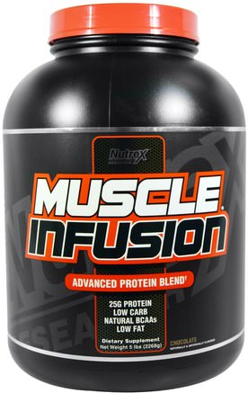Muscle Infusion, Advanced Protein Blend, Chocolate, 5 lbs (2268 g) by Nutrex Research Labs-Kosttillskott, Protein, Sport, Muskel