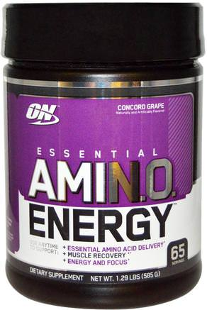 Essential Amino Energy, Concord Grape, 1.29 Lbs (585 g) by Optimum Nutrition-Sporter
