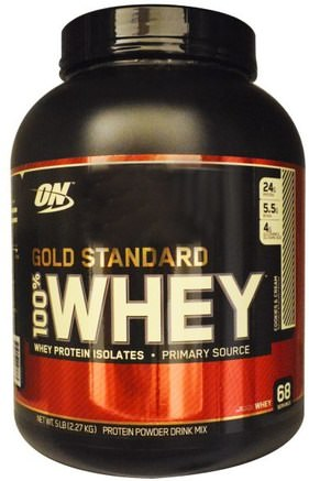 Gold Standard, 100% Whey, Cookies & Cream, 5 lbs (2.27 kg) by Optimum Nutrition-Sporter