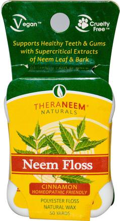 Neem Floss, Cinnamon, 50 Yards by Organix South-Bad, Skönhet, Oral Tandvård, Tandvals, Örter