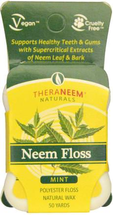 Neem Floss, Mint, 50 Yards by Organix South-Bad, Skönhet, Oral Tandvård, Tandvals, Örter