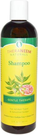 TheraNeem Naturals, Shampoo, Gentle Therap, 12 fl oz (360 ml) by Organix South-Bad, Skönhet, Hår, Hårbotten, Schampo, Balsam
