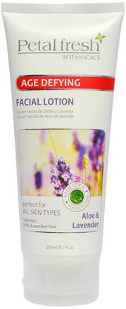 Botanicals, Age Defying Facial Lotion, Aloe & Lavender, 7 fl oz (200 ml) by Petal Fresh-Skönhet, Ansiktsvård, Hud, Krämer Lotioner, Serum