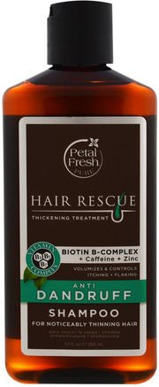 Hair Rescue Thickening Treatment, Anti Dandruff Shampoo, 12 fl oz (355 ml) by Petal Fresh-Bad, Skönhet, Hår, Hårbotten, Schampo, Balsam