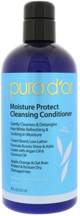 Moisture Protect Cleansing Conditioner, 16 fl oz (473 ml) by Pura Dor-Bad, Skönhet, Hår, Hårbotten, Schampo, Balsam