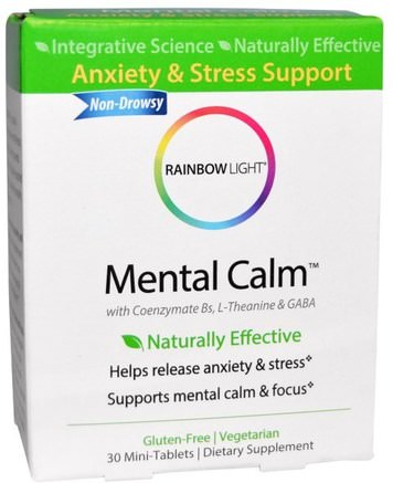 Mental Calm, 30 Mini-Tablets by Rainbow Light-Hälsa, Anti Stress, Ångest